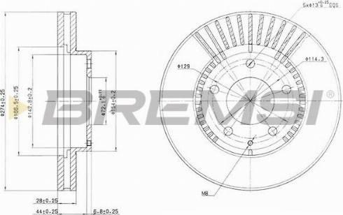 Bremsi CD6738V - Bremžu diski interparts.lv