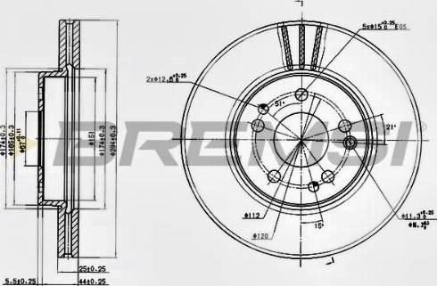 Bremsi CD6725V - Bremžu diski interparts.lv