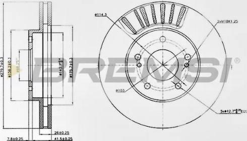 Bremsi CD7494V - Bremžu diski interparts.lv
