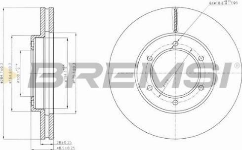 Bremsi CD7441V - Bremžu diski interparts.lv