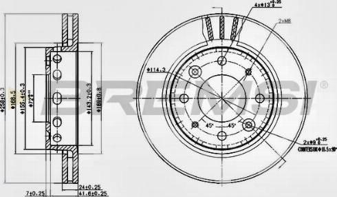 Bremsi CD7418V - Bremžu diski interparts.lv