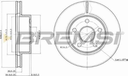 Bremsi CD7471V - Bremžu diski interparts.lv
