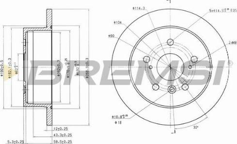 Bremsi CD7598S - Bremžu diski interparts.lv