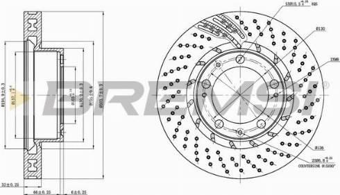 Bremsi CD7592VLS - Bremžu diski interparts.lv