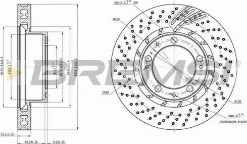 Bremsi CD7592VRD - Bremžu diski interparts.lv