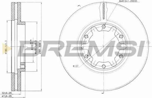 Bremsi CD7552V - Bremžu diski interparts.lv