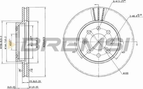 Bremsi CD7565V - Bremžu diski interparts.lv