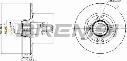 Bremsi CD7515S - Bremžu diski interparts.lv