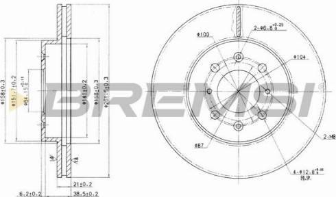 Bremsi CD7510V - Bremžu diski interparts.lv