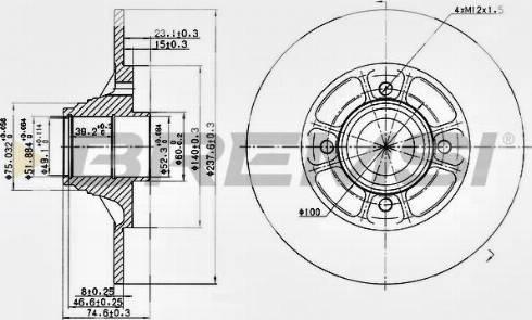 Bremsi CD7517S - Bremžu diski interparts.lv