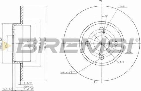 Bremsi CD7576S - Bremžu diski interparts.lv