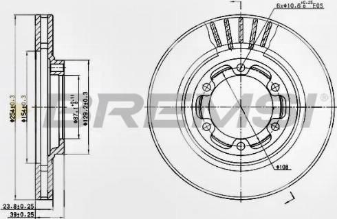 Bremsi CD7685V - Bremžu diski interparts.lv