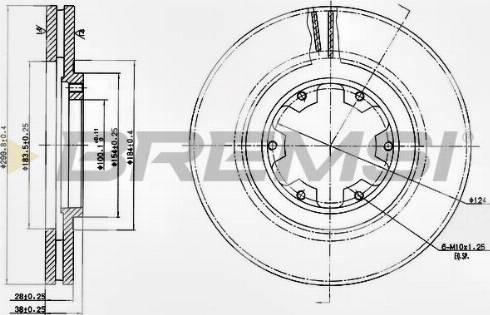 Bremsi CD7626V - Bremžu diski interparts.lv