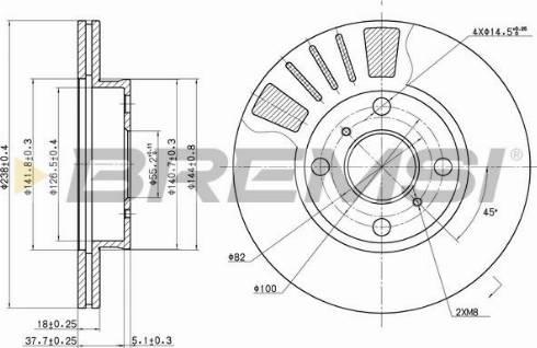 Bremsi CD7094V - Bremžu diski interparts.lv