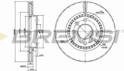 Bremsi CD7096V - Bremžu diski interparts.lv