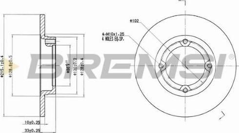 Bremsi CD7098S - Bremžu diski interparts.lv