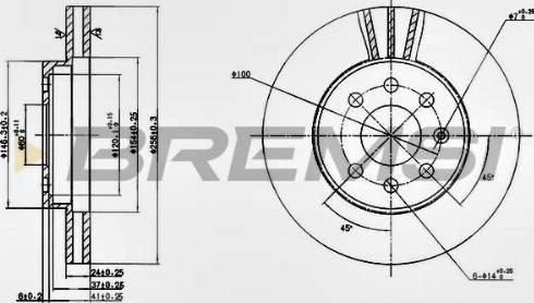 Bremsi CD7097V - Bremžu diski interparts.lv