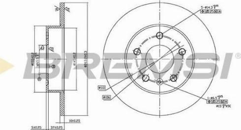 Bremsi CD7044S - Bremžu diski interparts.lv