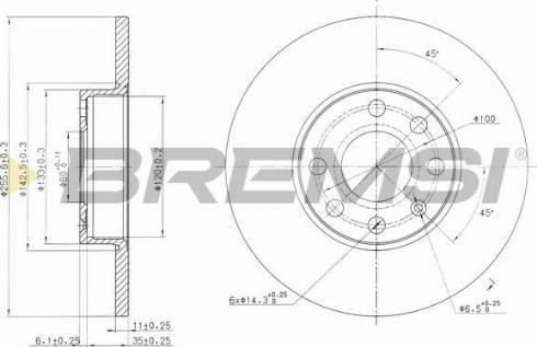 Bremsi CD7040S - Bremžu diski interparts.lv