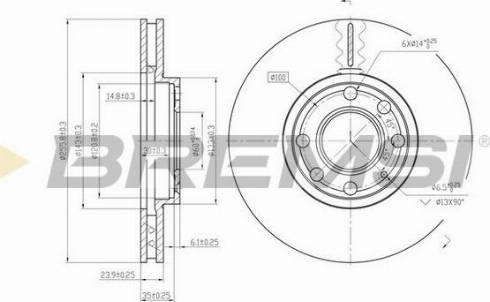 Bremsi CD7041V - Bremžu diski interparts.lv