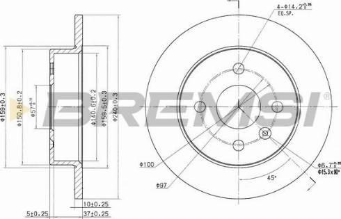 Bremsi CD7043S - Bremžu diski interparts.lv