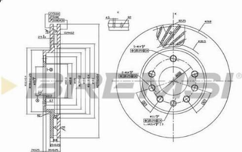 Bremsi CD7042V - Bremžu diski interparts.lv