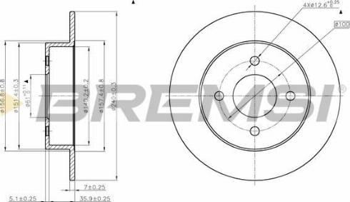 Bremsi CD7058S - Bremžu diski interparts.lv