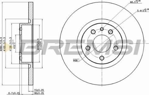Bremsi CD7057S - Bremžu diski interparts.lv