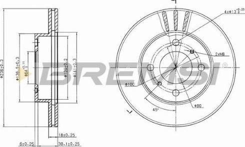 Bremsi CD7005V - Bremžu diski interparts.lv