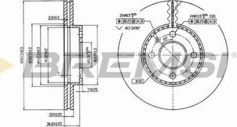 Bremsi CD7006V - Bremžu diski interparts.lv