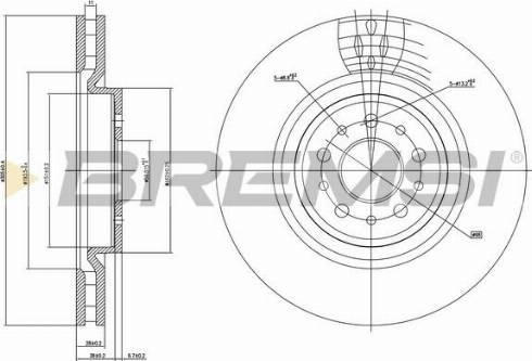 Bremsi CD7001V - Bremžu diski interparts.lv