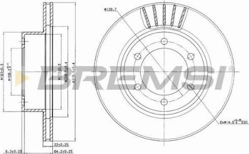 Bremsi CD7008V - Bremžu diski interparts.lv