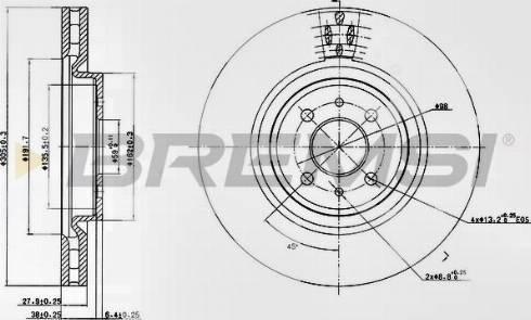 Bremsi CD7002V - Bremžu diski interparts.lv