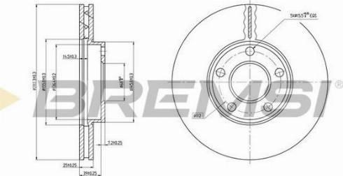 Bremsi CD7014V - Bremžu diski interparts.lv