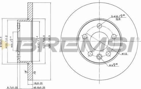 Bremsi CD7011S - Bremžu diski interparts.lv