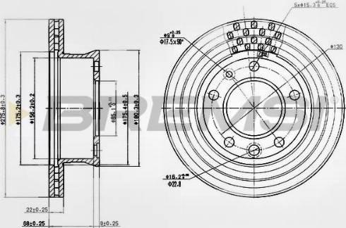 Bremsi CD7013V - Bremžu diski interparts.lv