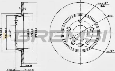Bremsi CD7012S - Bremžu diski interparts.lv