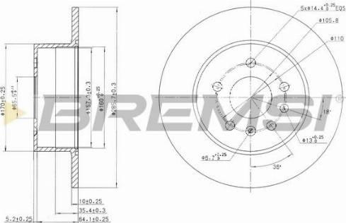 Bremsi CD7083S - Bremžu diski interparts.lv