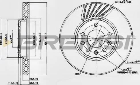 Bremsi CD7082V - Bremžu diski interparts.lv