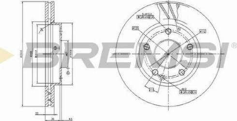 Bremsi CD7035V - Bremžu diski interparts.lv