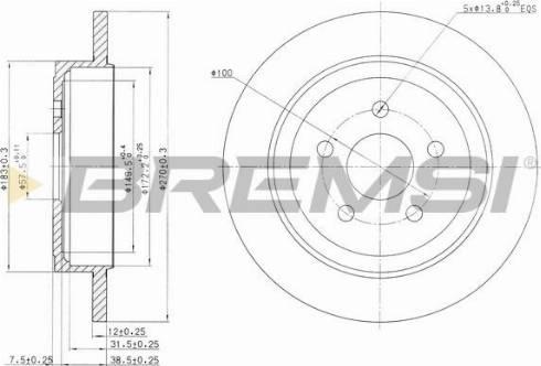 Bremsi CD7026S - Bremžu diski interparts.lv