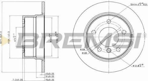 Bremsi CD7028S - Bremžu diski interparts.lv