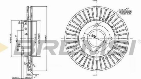 Bremsi CD7072V - Bremžu diski interparts.lv