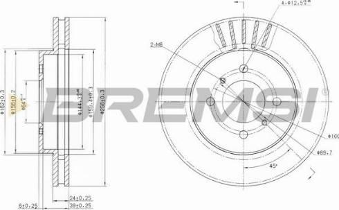 Bremsi CD7193V - Bremžu diski interparts.lv