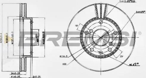 Bremsi CD7192V - Bremžu diski interparts.lv