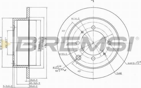 Bremsi CD7141S - Bremžu diski interparts.lv