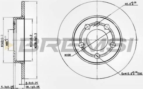 Bremsi CD7155S - Bremžu diski interparts.lv