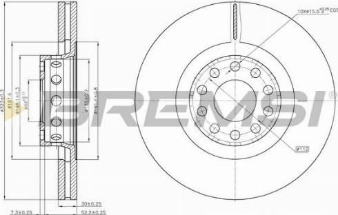 Bremsi CD7150V - Bremžu diski interparts.lv