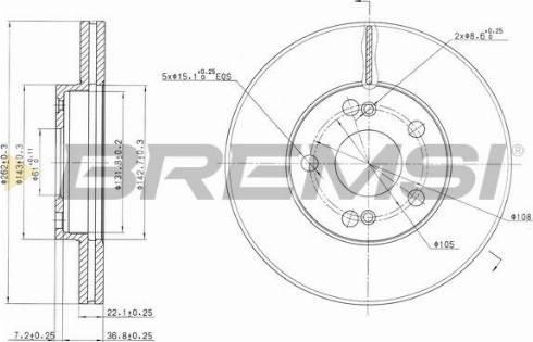 Bremsi CD7167V - Bremžu diski interparts.lv
