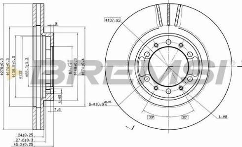 Bremsi CD7109V - Bremžu diski interparts.lv